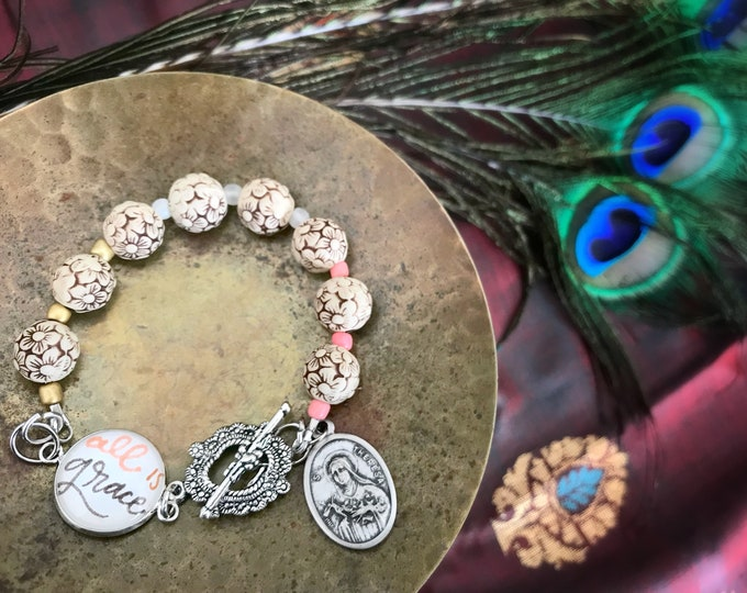St. Therese All Is Grace Beaded Bracelet