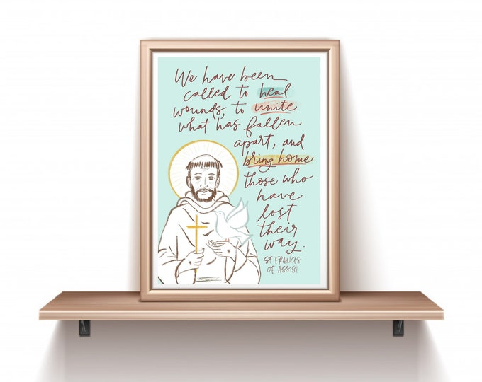 Catholic Prints | St. Francis of Assisi Print | Saint Francis Print