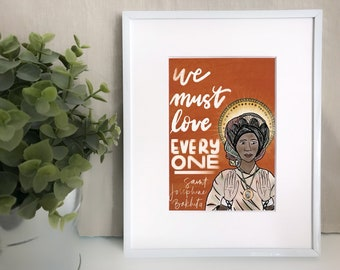 Saint Josephine Bakhita Print part of the Mercy Project Collection