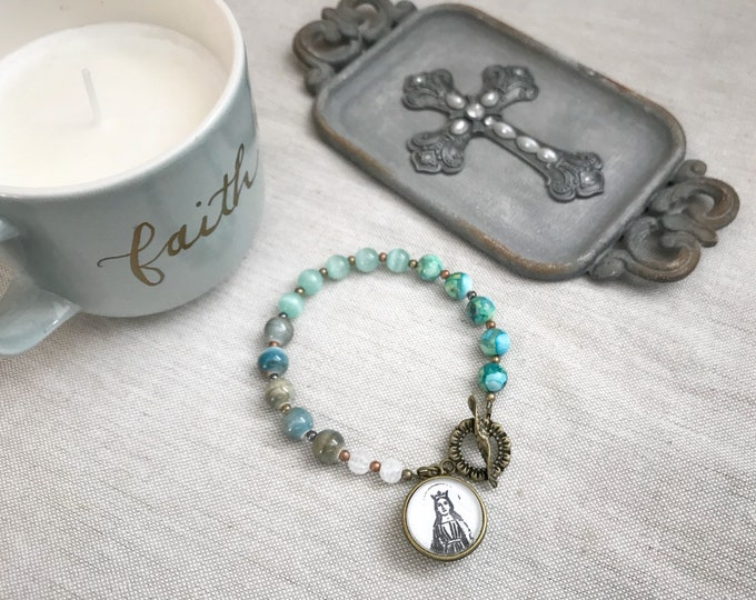 St. Dymphna Chaplet Bracelet