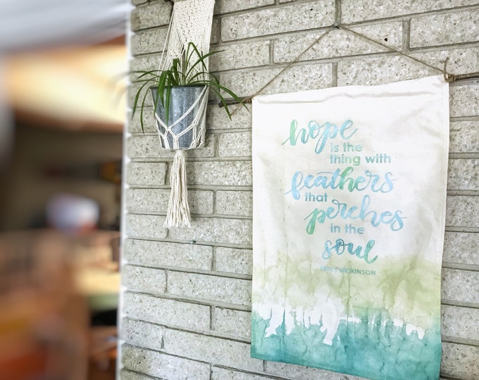 Hope is a Thing With Feathers - Large Canvas Banner