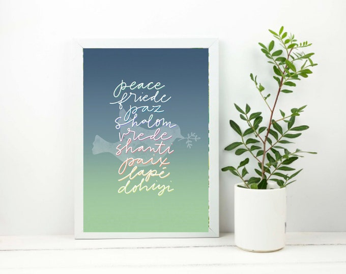 Catholic Prints | Multilingual Peace Print