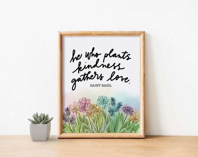 Plant Kindness Watercolor Print