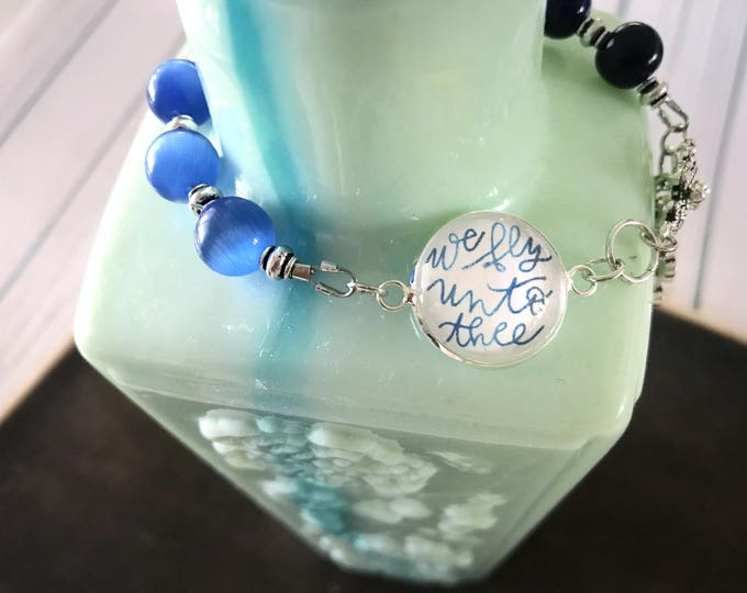 Catholic Bracelet * Catholic Jewelry * Memorare Novena * Flying Novena Bracelet * Mother Teresa Prayer Bracelet * Beaded Diffuser Bracelet