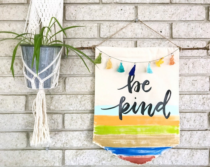 Be Kind Medium Canvas Banner