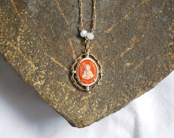 Catholic Vintage Sacred Heart Medal Necklace
