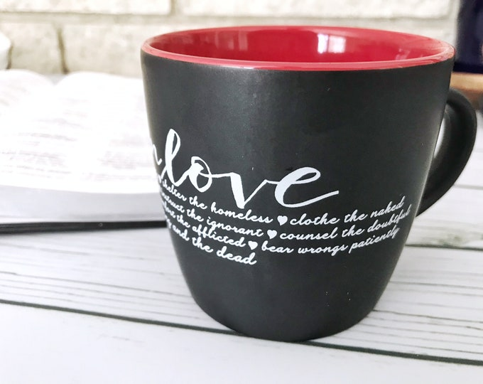 Live in Love / Works of Mercy Mug