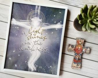 Catholic Prints | Catholic Art | Catholic Home Decor | Inspirational Art | Christian Art | Crucifix Art