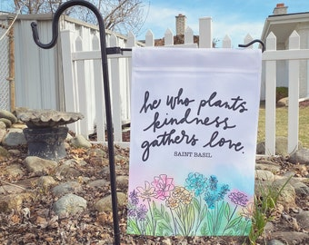 Gather Love Garden Flag