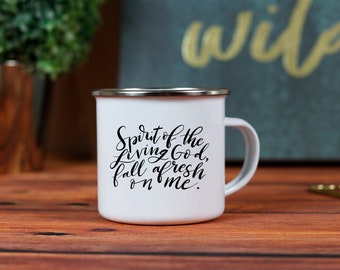 Spirit of the Living God 10oz. Metal Campfire Mug
