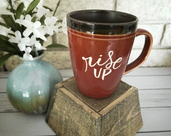 Catholic Ceramic Mug * Inspirational Mug * Handlettered Ceramic Mug