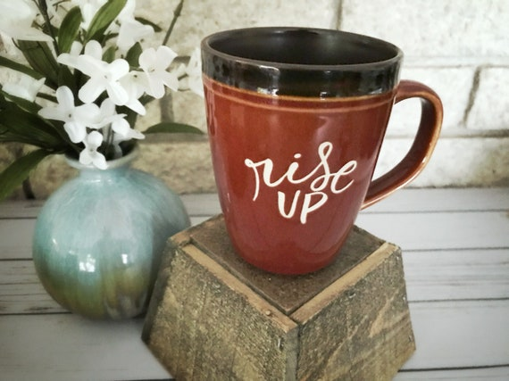 Catholic Ceramic Mug * Inspirational Mug * Handlettered Ceramic Mug