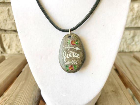 Catholic Christian Jewelry * Catholic Pendant Necklace * Stone Pendant Necklace * Rustic Jewelry * Gifts for Her