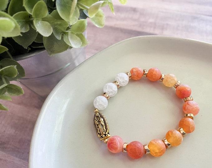Stretch OL Guadalupe Rosary Bracelet