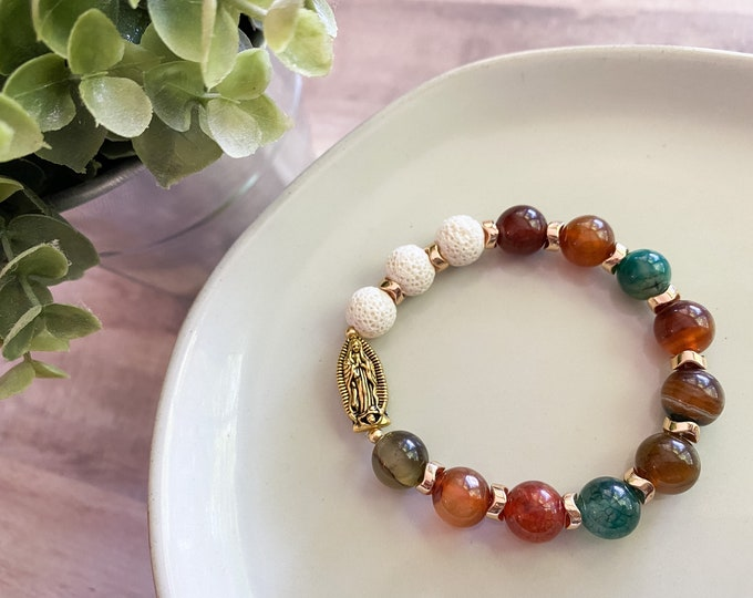 Stretch OL Guadalupe Rosary Bracelet (Diffuser)