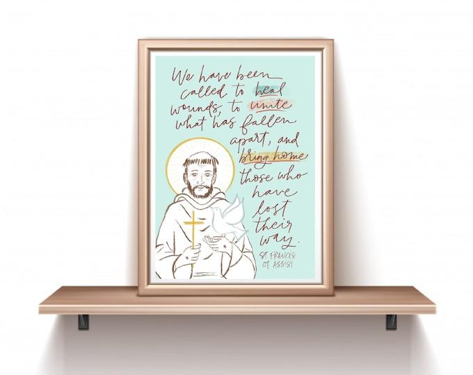 Catholic Prints | St. Francis of Assisi Print | Saint Francis Print