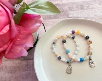 Mommy & Me St. Therese Bracelet Set