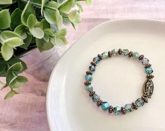 Catholic Bracelet * Christian Bracelet * Beaded Bracelet * OL Guadalupe Medal Bracelet * Catholic Jewelry * Gifts for Her