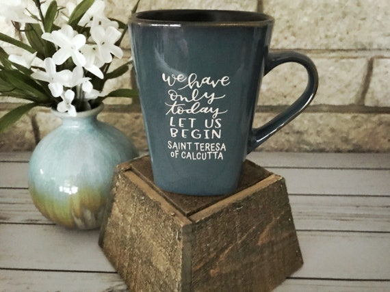 Catholic Ceramic Mug * Inspirational Drinkware * Mother Teresa Mug