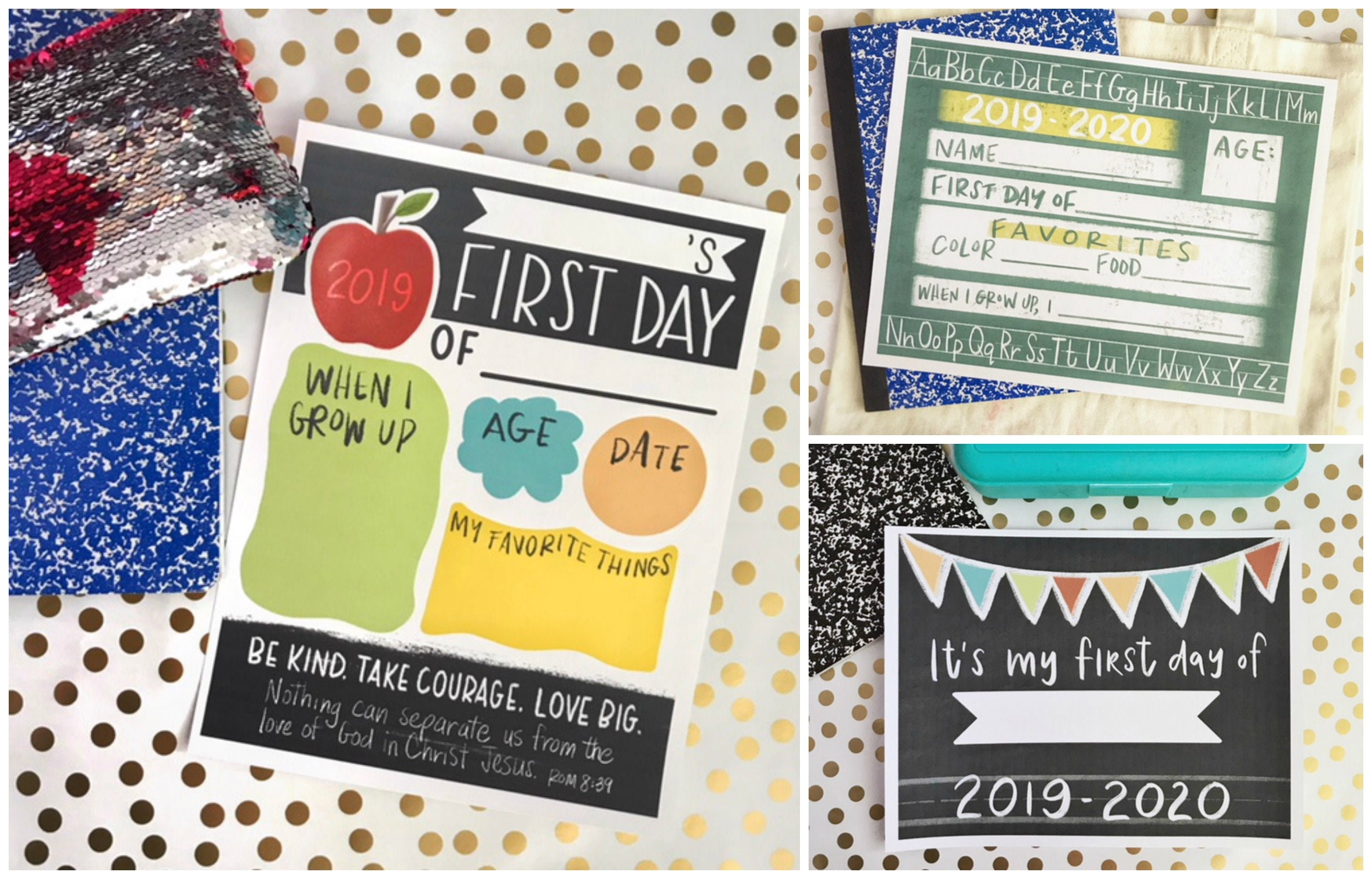Back to School Printables - 3 Design Set