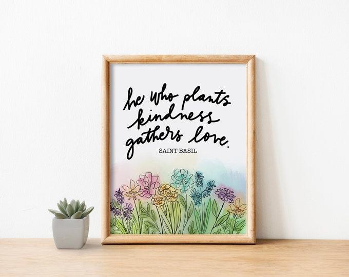 Plant Kindness Watercolor Print