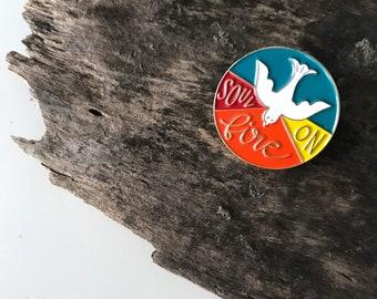 Holy Spirit Enamel Pin