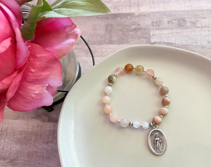 St. Dymphna Chaplet Stretch Bracelet