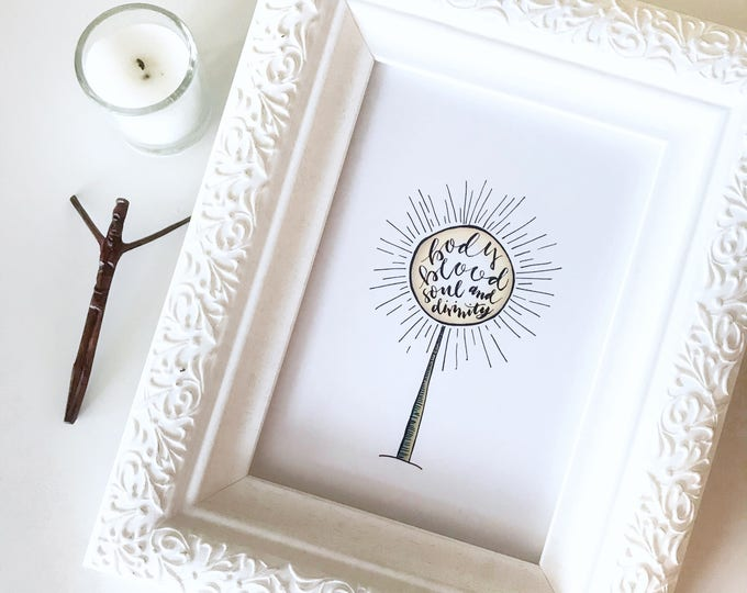 Catholic Print * Catholic Home Decor * Watercolor & Ink Print * Gifts for First Communion * Housewarming Gift * Baptism Gift