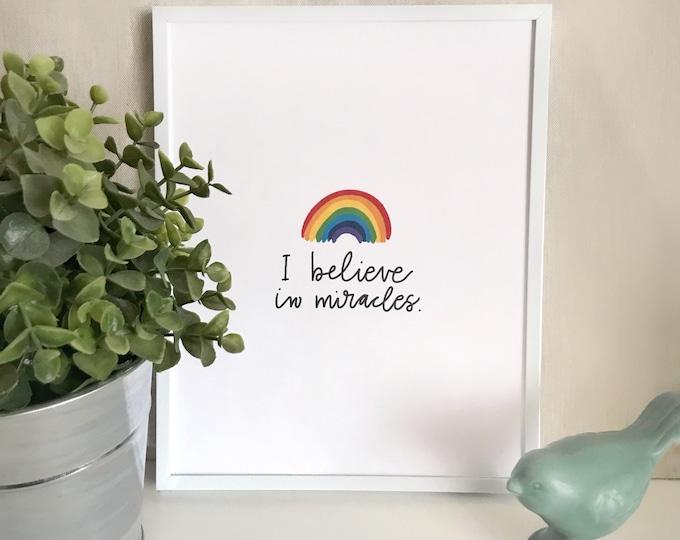 Catholic Prints | Catholic Art | Catholic Home Decor | Nursery Decor | Inspirational Art | Rainbow Baby Print