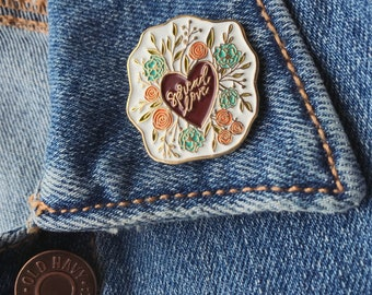 Catholic Jewelry | Catholic Enamel Pin |  Spread Love Enamel Pin | Stocking Stuffer | Confirmation Gift | Gifts for Her