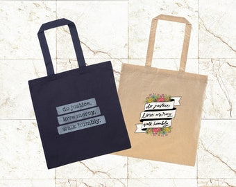 Do Mercy Lightweight Totebag - Mercy Project Line Fundraiser