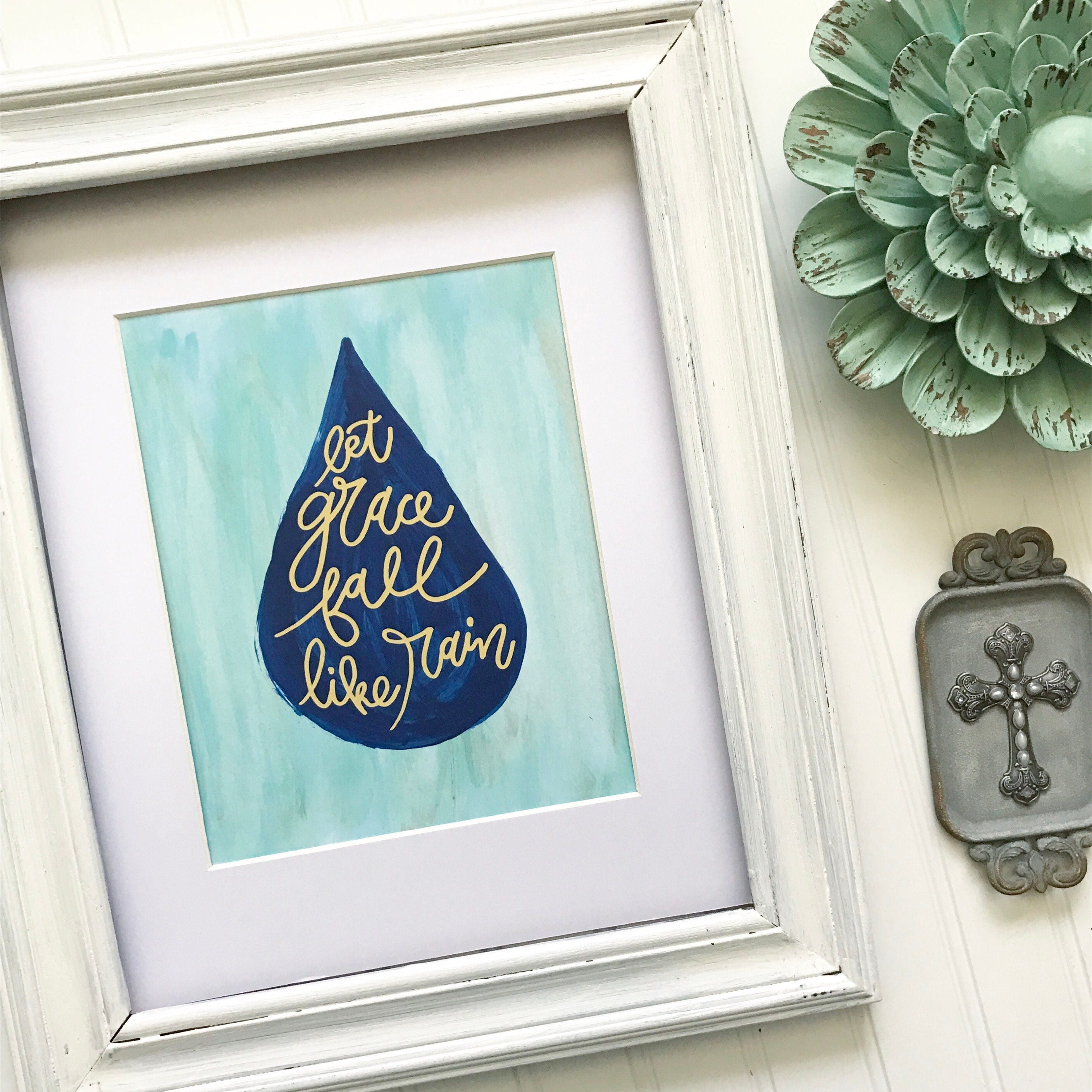 Hand Lettered And Painted 8x10 Print * Christian Catholic