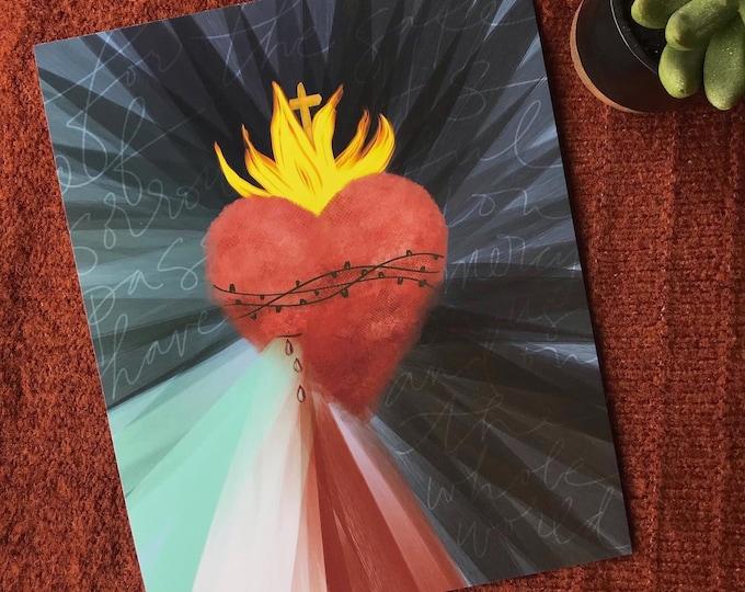 Sacred Heart of Mercy Print