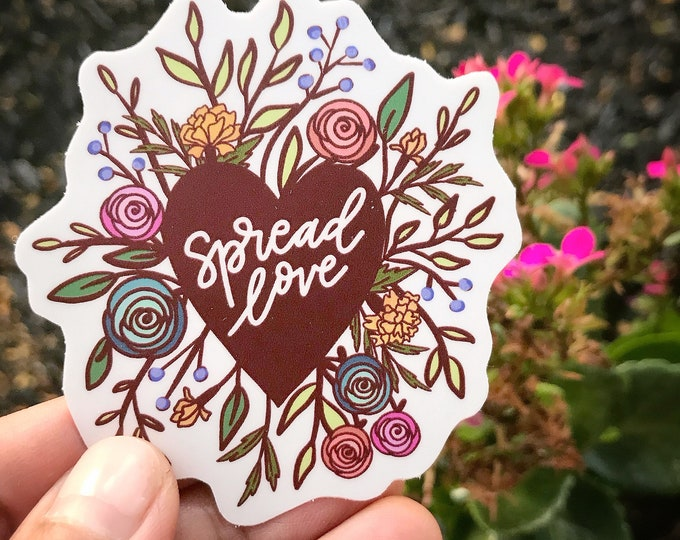 Spread Love Floral Sticker