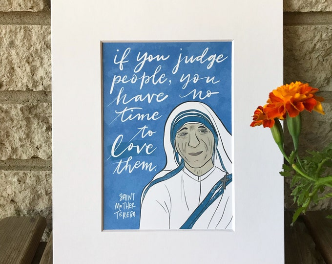 Catholic Prints | St. Teresa of Calcutta Print | Mother Teresa Print