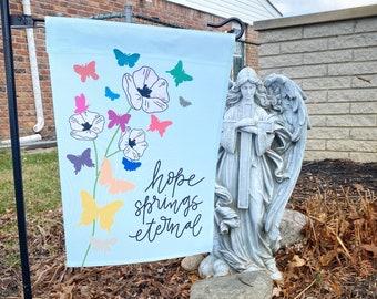 Catholic Decor | Garden Flag | Floral Garden Flag | Catholic Banner | Outdoor Banner