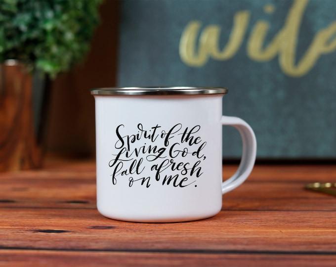 Spirit of the Living God 10oz. Metal Campfire Mug