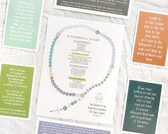 Catholic Prints * Kids Rosary print set * Rosary * Prayer Cards * Kids' Prayer Cards * Communion Gift * Confirmation Gift * Easter Gift