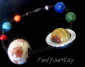 Beaded Solar System Bracelet