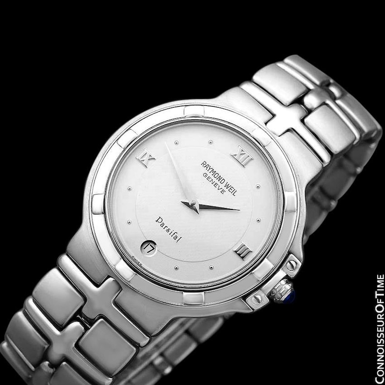 Raymond Weil Parsifal Mens Watch Ref 9191 Stainless Steel Etsy