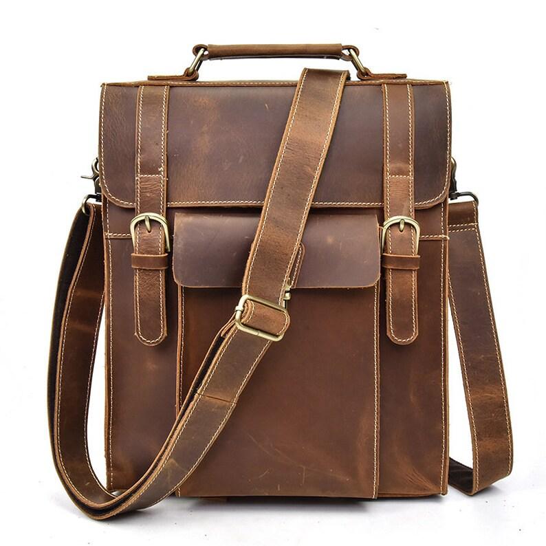 ad203843c6 Leather Backpack Women Laptop Backpack Bag Messenger