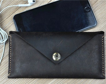 Leather iPhone 6s Plus Case, Leather iPhone 6 Sleeve, iPhone 6 Case Wallet,Woman Wallet, C177