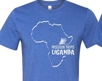 Mission Trips Uganda Logo Team Fundraiser Tshirts