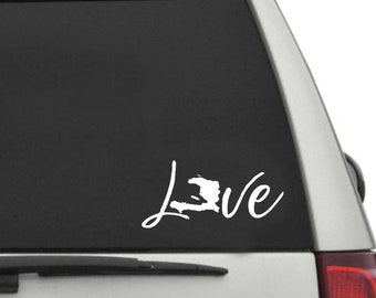 LOVE Haiti Script Window Vinyl Decal
