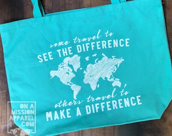 Make A Difference Pigment Dyed Canvas Tote Bags