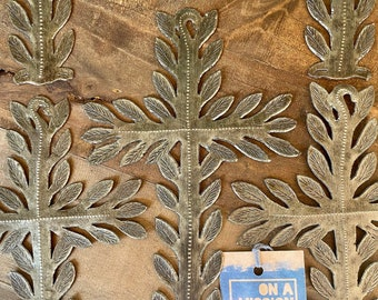Vine and Branches Hammered Steel Fair Trade Cross from Haiti | Wall Decor
