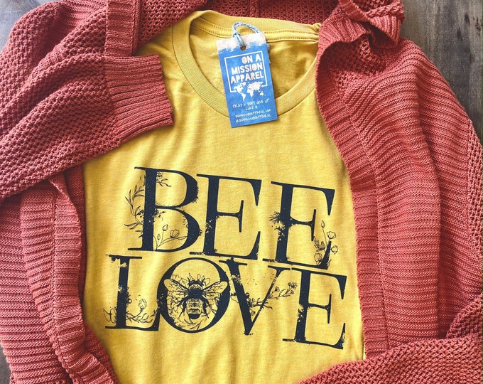 Featured listing image: Bee Love Mission Farmers Market Adult Unisex T Shirt