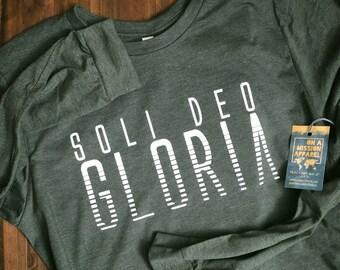 Soli Deo Gloria / Glory to God Alone Adult Unisex Long Sleeve Tees