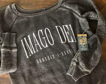 Imago Dei Women's Acid Wash Sponge Sweatshirt