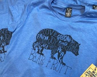Bear Fruit Adult Unisex Triblend T-shirt